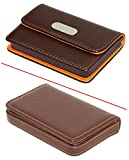 #10: SEPAL Credit Card case, Combo Pack of 2 Different Style Leather Debit/ATM/Visiting Pocket Sized Card Holder – Brown