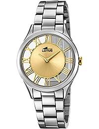a50957ad4407 Lotus Reloj Analógico para Mujer de Cuarzo con Correa en Acero Inoxidable  18395 2