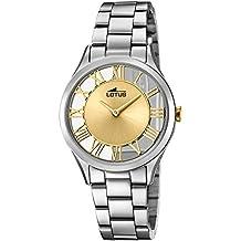 1a2ca2e2c4ae Lotus Reloj Analógico para Mujer de Cuarzo con Correa en Acero Inoxidable  18395 2