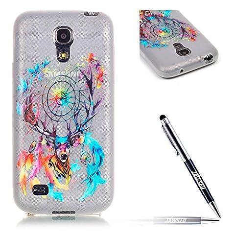 Galaxy S4 Mini Tpu Handyhülle,Samsung Galaxy S4 Mini Hülle,JAWSEU Ultradünne