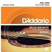 D\'Addario EZ900 Juego de cuerdas para guitarra acústica de bronce, 010\' - 047\'