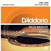 D'Addario EZ900 - Juego de cuerdas para guitarra acústica de bronce, 010' - 050'