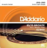#7: D'Addario EZ900 85/15 Bronze Great American Extra Light Acoustic Guitar Strings