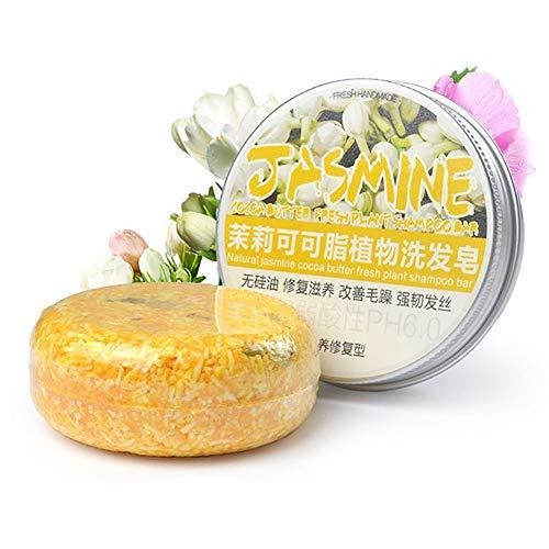 Jasmine Shampoo Bar OYOTRIC Shampoo and Conditioner, Plant essential oil 100% Natural Handmade Organic seaweed Soap Bar -