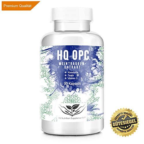 OPC - TRAUBENEXTRAKT Kapseln - 100% Qualität - Laborgeprüftes Premium OPC, 90 Kapseln - Hochdosiertes Qualitätsprodukt hergestellt in Deutschland