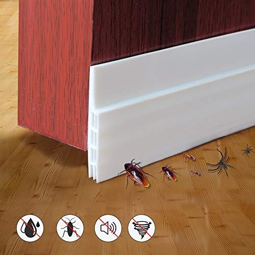 phixilin Selbstklebende Tür Türdichtung Dichtungsstreifen Zugluftstopper Warme und Kälte Blocker Silikon Türstopper gegen Insekt Schalldichtung Winddicht Staubdicht - Weiß (100 * 5 cm)