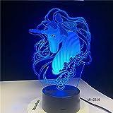 wangZJ 3d Night Led lampe/lampes de bureau de table tactile / 7 couleurs changeantes...