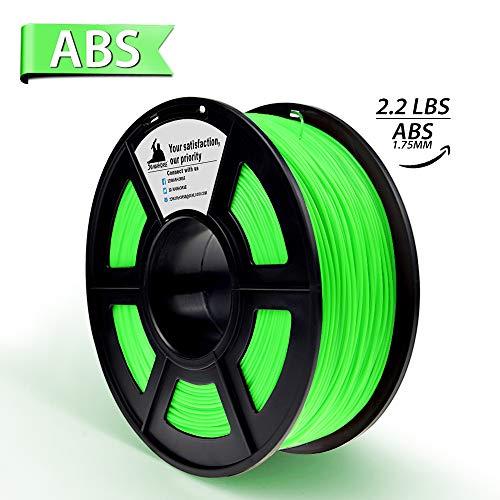 Verde abs filamento stampante 3d,filamenti per stampanti 3d,1.75 mm,precisione dimensionale +/- 0,02 mm