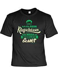 sabuy T-Shirt - Ich bin kein Klugscheißer - Ich weiß es wirklich besser - lustiges Sprüche Shirt für Besserwisser mit Humor - Geschenk Set mit Funshirt und Minishirt