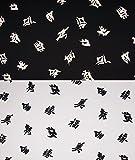 Fabrics-City (SCHWARZ/WEIß) ASIA SCHRIFT CHINA