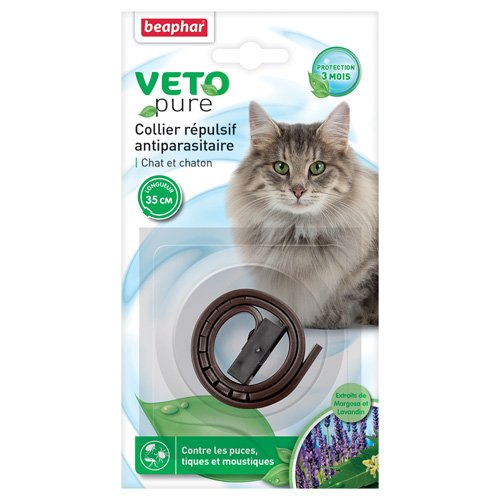 beaphar-vetopure-collier-repulsif-antiparasitaire-chat-et-chaton-marron