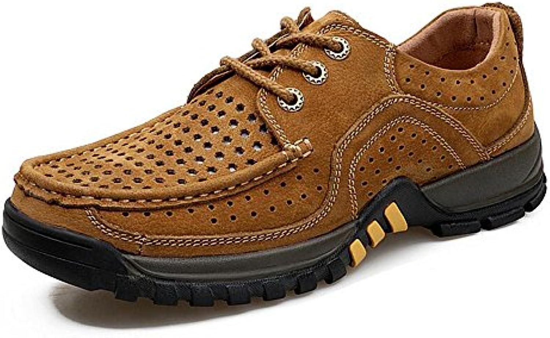 GAOLIXIA Scarpe da Uomo Uomo Uomo Scarpe Cava Scarpe Sportive estive Tacco Piatto Punta Tonda per Scarpe da Uomo Casual... | Sconto  171579