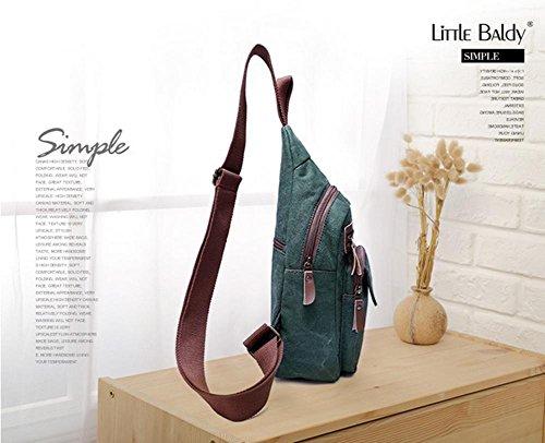 Koreanische Version der freien Masse canvas Taschen Diagonale Brust Pack Green