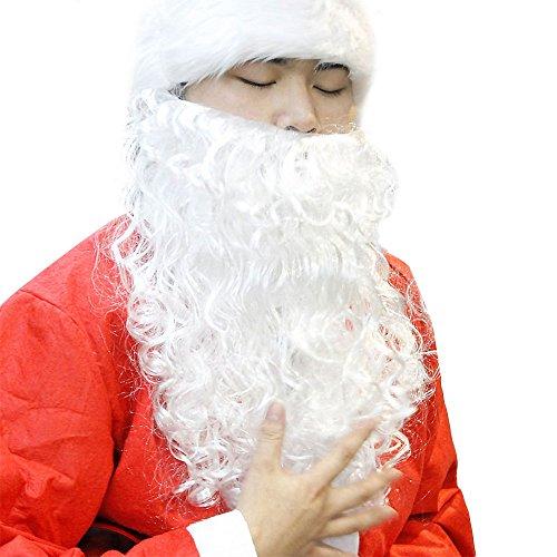 Erwachsene Weißer Bart Weihnachtsmann Schnurrbart Weihnachten Cosplay Props Party-Zubehör 40 cm (Und Schnurrbart-party Perücke)