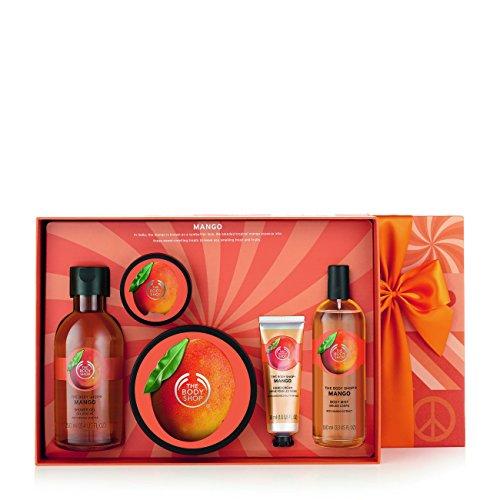 The Body Shop Mango Premium Collection-Duschgel Mango 250ml Body Butter Mango 200ml Body Scrub Mango 50ml Hand Cream Mango 30ml Body Mist Mango 100ml -
