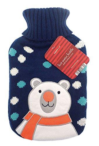 Weihnachtliche Wärmflasche,2Liter,weicher Strickbezug mit weihnachtlichem Motiv