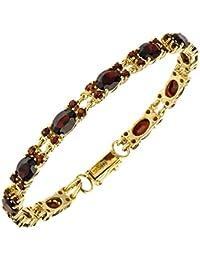 9 karat Gold 375 Armband mit 6mm Facetiert Onyx