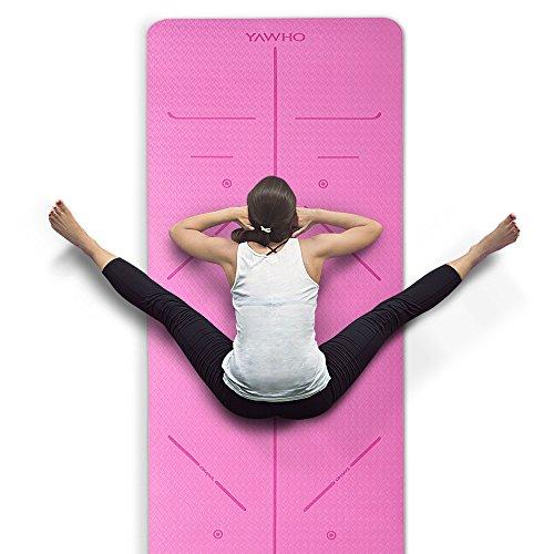 YAWHO Yogamatte hochwertige TPE ist rutschfest ECO Freundlichen Material Das SGS zertifiziert Maße:...