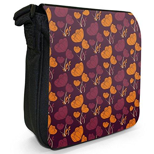 Fancy A Snuggle, Borsa a tracolla donna Kaskaden Blumen Violett Orange