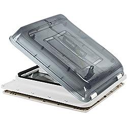 Fiamma Aération pour toit Turbo Polaire Contrôle par thermostat - Pour caravane ou camping-car - transparent, 40x40cm