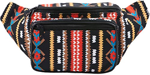 SoJourner Bags riñonera uno tamaño Azteca Tribal