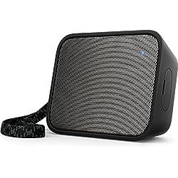 Philips BT110B Enceinte Bluetooth Portable, Étanche éclaboussures, avec Micro, 8h d'autonomie, Noir
