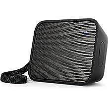 Philips BT110B PixelPop - Altavoz portátil inalámbrico (Bluetooth, a prueba de salpicaduras, correa incluida, batería recargable), color negro