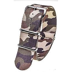 Stash Bands 22mm Desert Camo austauschbar Ersatz NATO Strap Band-natobrow22