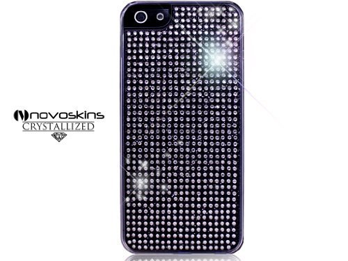 iPhone 5 5s Novoskins Black Nero Crystal Chic Luxe Hard Case with Crystal Clear Screen Guard SALE 1 Free iPh5 Case different design