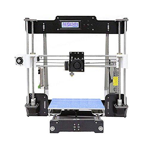 Stampante 3d, colorfish a8 prusa i3 aggiornamento mk8 estrusore alta precisione smontato diy desktop stampante 3d kits,1.75mm abs/pla filamento (formato di stampa 220 × 220 × 240 mm)