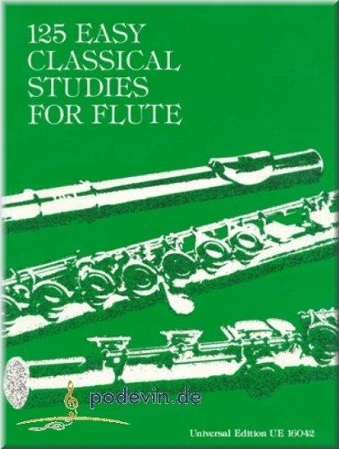 Preisvergleich Produktbild 125 Easy Classical Studies (leichte, klassische Studien) - Flöte Noten | ©podevin-de [Musiknoten]