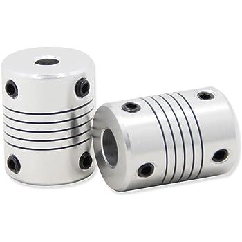 3D Printer Coupler Flexible Couplings 5mm to 8mm NEMA 17 Shaft for RepRap 3D Printer or CNC Machine Eewolf