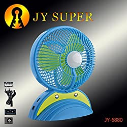 Grow More High Quality JY SUPER 6880 PORTABLE TABLE FAN WITH LED LIGHT.