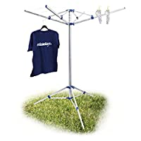Relaxdays Portable 15 m Clothes Drying Rack Laundry Dryer, White