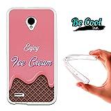 Becool® Fun - Funda Gel Flexible para Vodafone Smart Prime 6 .Carcasa TPU fabricada con la mejor Silicona, protege y se adapta a la perfección a tu Smartphone y con nuestro diseño exclusivo Disfruta del helado