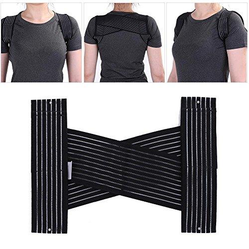 Filfeel Corrección de la Postura Soporte Reducción de la Espalda Dolor Luz y Hombre Transpirable Mujer Mejorar la corrección de la Postura (Adulto)(M)