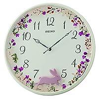 QXC238WLS SEIKO white Pendulum wall clock, diameter 33cm