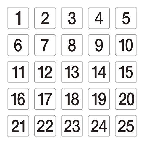 numéros de table 1-25 95 x 100 mm Mariage Pubs clubs de restaurant Cafe Bar