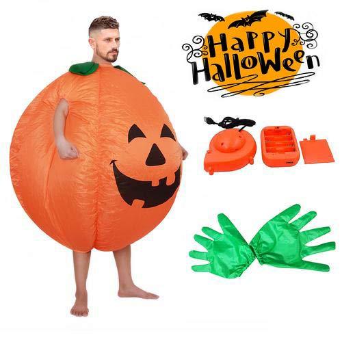 Für Kostüm Laterne Herren Grüne - Aufblasbare Kostüm Laterne Kürbis Halloween Party Cosplay Kostüme für Männer Frauen Audlts und Kinder