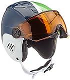 Alpina Carat Visor - Casco de esquí para niña con visera, Otoño-invierno, infantil, color Green-Blue Asym, tamaño 48-52