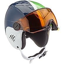 ALPINA Carat Visor - Casco de esquí para niña con Visera, Otoño-Invierno,