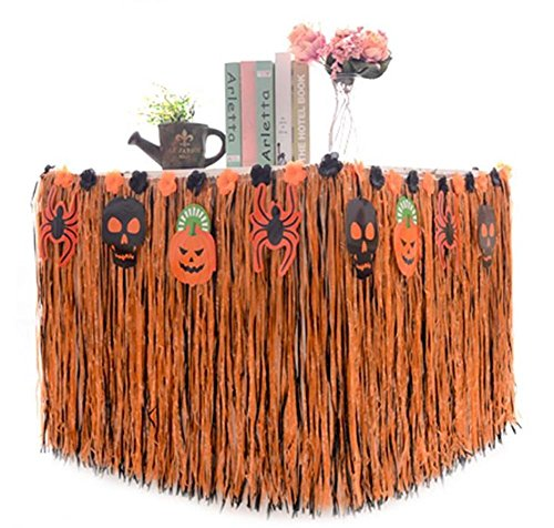 atuer Hawaii Dekoration Hawaii Tischdeko + 4* Halloween Kürbis Karten + 4* Halloween Geist Karten +4* Spinne Karten für DIY Halloween Party (Orange) (Halloween Hawaii 2017)