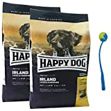 Happy Dog 2 x 12,5 kg Supreme Sensible Irland Hundefutter Lachs + Ballschleuder