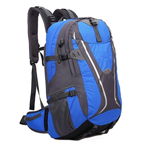 LQABW 2017 Außerhalb Umhängetasche Reduzierte Multifunktionssport Bergsteigen Tasche Computer Nylon Wanderrucksack 35cmx58cmx28cm 50L Blue
