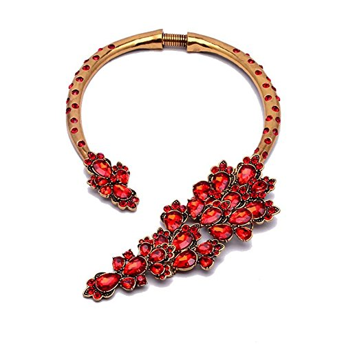 twopages-crystal-red-glass-encrusted-mental-collar-necklace-jewelry-gifts-for-women