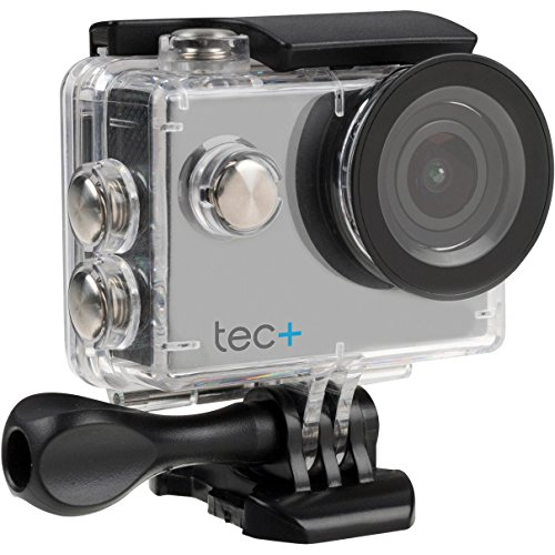 tec+ 720P HD Display Actionkamera Action Sport Camera Inkl. Diversen Halterungen und Wasserdichtem Gehäuse - Silber