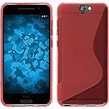 PhoneNatic Funda de Silicona Compatible con HTC One A9 - S-Style Rojo - Cover Cubierta + Protector...