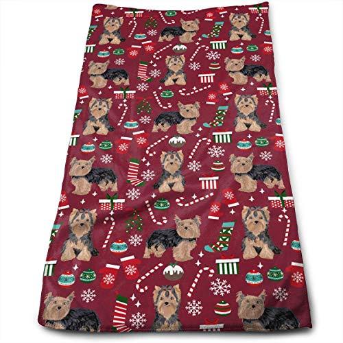 Hipiyoled Christmas Dog Maximale Weichheit und vielseitige Handtücher Reisegymnastik Home Office Handtuch