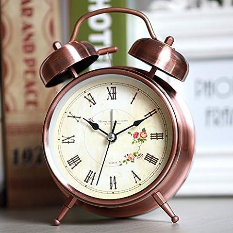 FQQRYY Allarme studenti creativi luce notturna ornamenti di studio home decorazioni personalizzate orologio al posto letto mute pigri guarda13CM,un