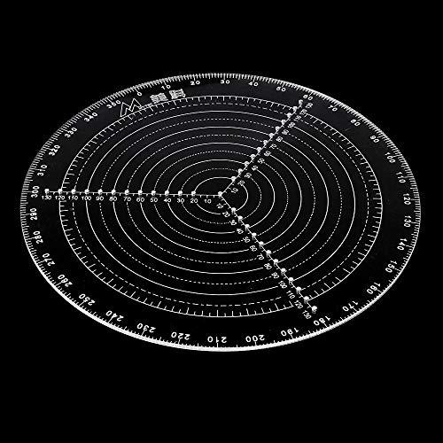 Zentrierwerkzeug Holzbearbeitungs-Kompass klar Acryl Kreis Zeichnen Lineal für Holzwender 360 Grad Winkelmessung Durchmesser 300 mm -
